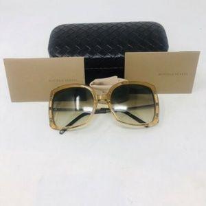 Bottega Veneta Tan Square Sunglasses 3-393-92319